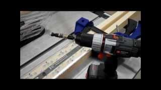 Rockler Shutter System: Drilling