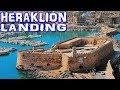 Heraklion Landing - Crete (4K)