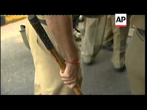 Protests against C'wealth Games; Queen's baton relay arrives