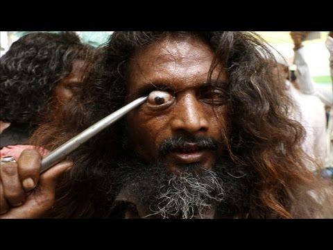 إحتفال إقتلاع العيون - إحتفال للجماعات الصوفية في الهند !!
