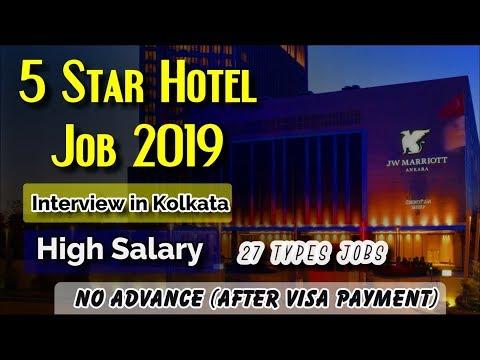 5 Star Hotel Job 2019 ! JW Marriott Group Hotel Interview In Kolkata On 24th & 25th April 2019