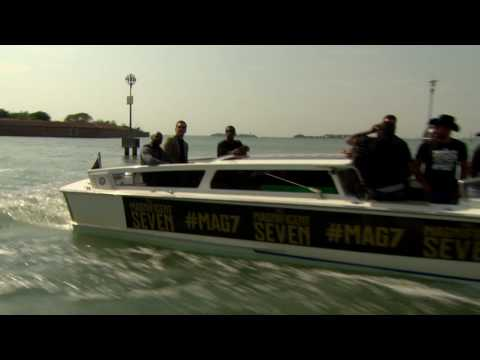 The Magnificent Seven: Denzel, Chris Pratt arrive to Venice Film Festival in a Boat