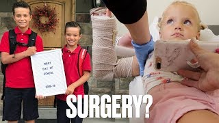 FINDING OUT IF OUR TODDLER NEEDS SURGERY FOR HER BROKEN ARM ON THE FIRST DAY OF SCHOOL