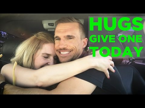 Give a Hug - A Simple Hug Can Make A Big Difference In Someone's Day