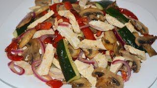 Вкусный салат без майонеза! Tasty salad recipe