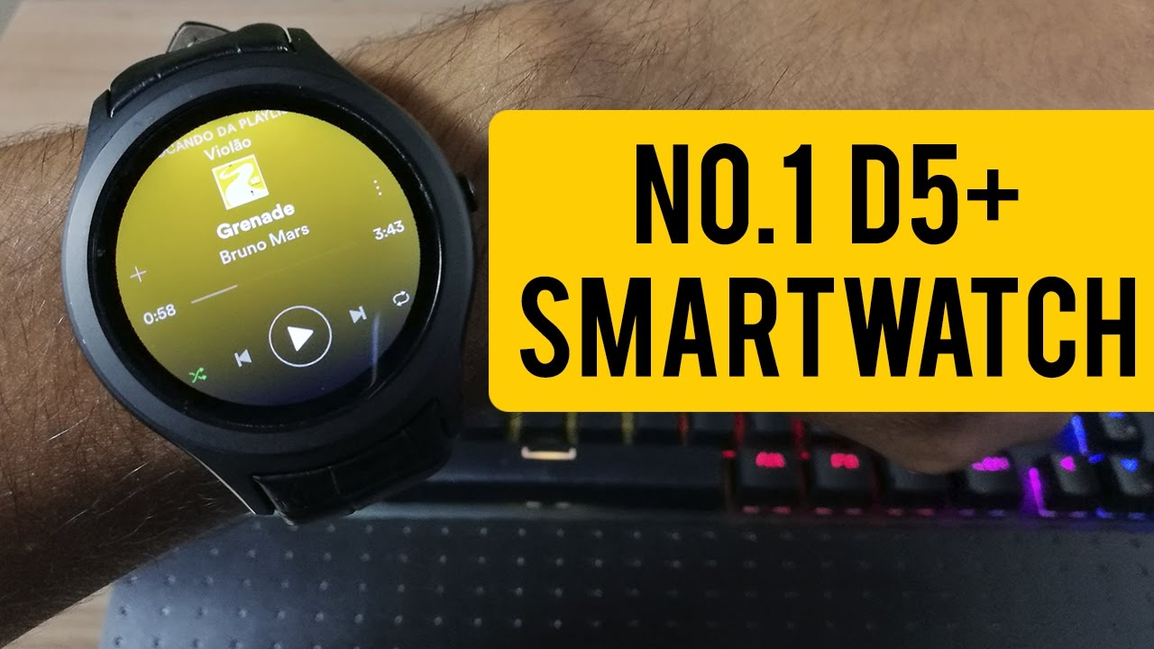 NO 1 D5+ - Esse Smartwatch CUSTA R$315 e tem até INSTAGRAM E SPOTIFY!