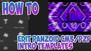 how to edit intro templates in panzoid cm3