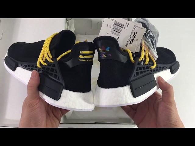 896486ffad2e1 UA Adidas PW Human Race NMD Pharrell Black Yellow (Ordinary) - YouTube