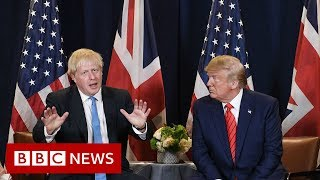 Donald Trump: Boris Johnson 'is not going anywhere' - BBC News