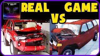 BeamNG drive vs Real Life - Crash Physics & Damage Comparison #3