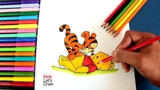 Cómo dibujar a Winnie The Pooh y Tiger bebé | Drawing Winnie The Pooh and Tiger babies