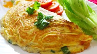 Cheese Omelette  Healthy Egg Omelette - Breakfast Recipe  Kanaks Kitchen