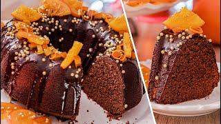 РОЖДЕСТВЕНСКИЙ КЕКС 🎄 Шоколадный Апельсиновый 🍫🍊 рецепт новогодний десерт c глазурью и цукатами