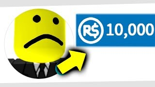 i gave a hater 10,000 robux, then this happened... (roblox)