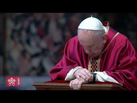 10 aprile 2020 Papa Francesco celebra la Cerimonia della Passione di Nostro Signore Gesù Cristo