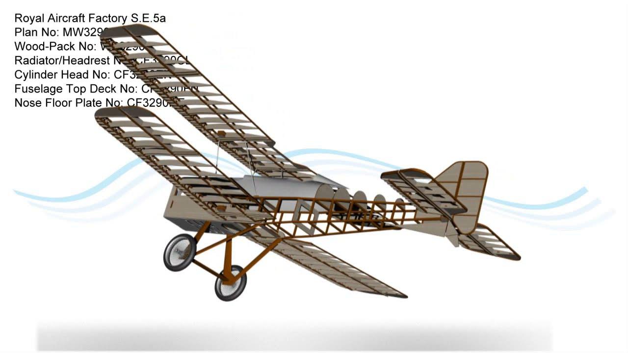 Royal Aircraft Factory S E 5a Rc Model Plan