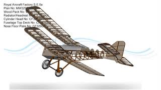 Royal Aircraft Factory S.e.5a Rc Model Plan