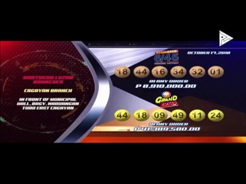 [LIVE] PCSO Lotto Draws  -  October 17, 2018  9:00PM