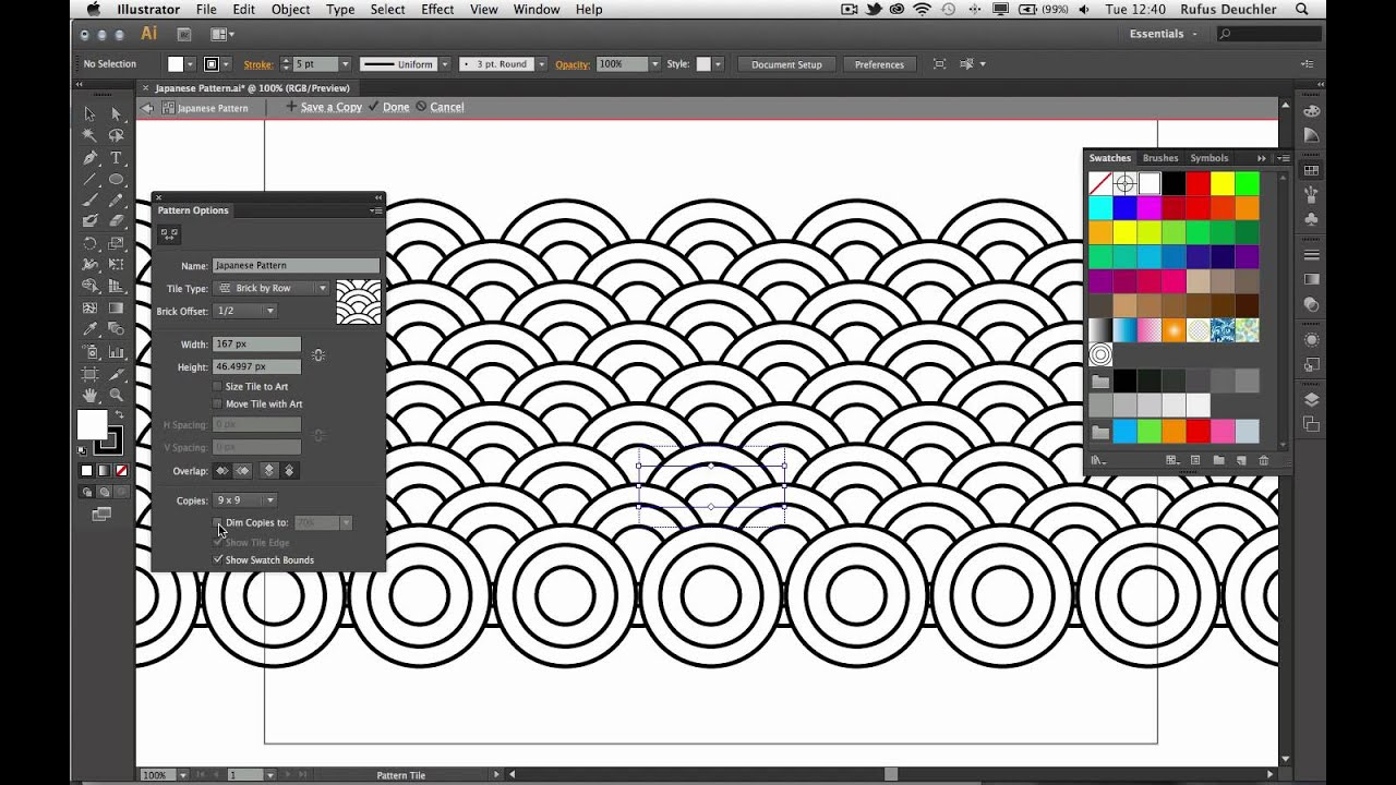 Create a Japanese Pattern with Adobe Illustrator CS6 - YouTube