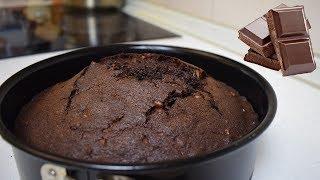Простой шоколадный пирог с орехами