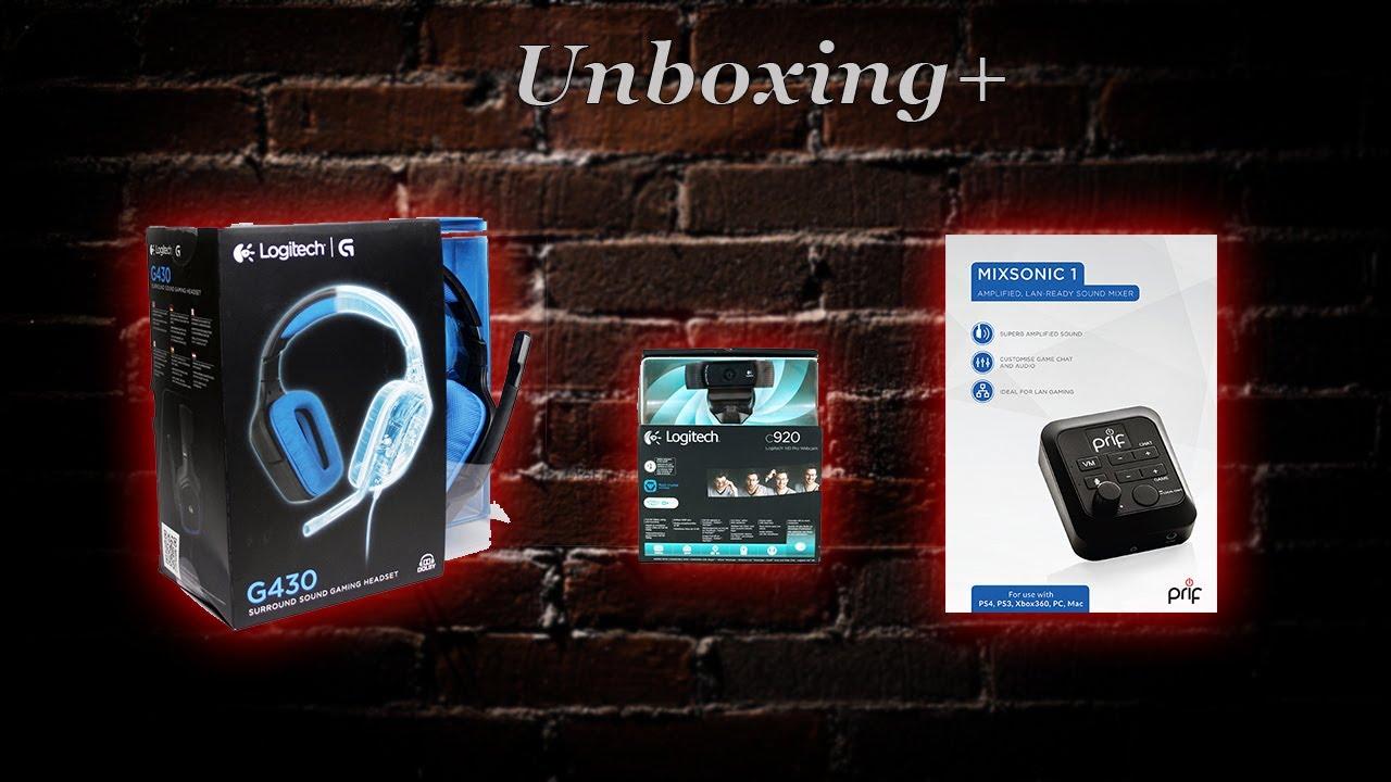 📦 UNBOXING+ / Logitech G430 & C920, PRIF Mixsonic 1