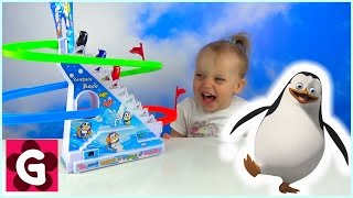 Gaby playing with Penguin Race Challenge Game