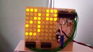 Temperature Display -  Scrolling LED Matrix Display - PIC16F872