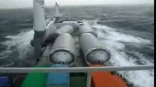 Losing Cargo in rough sea