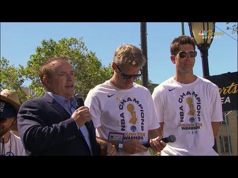 Steve Kerr & Bob Myers Interview - 2018 Golden State Warriors Championship Parade