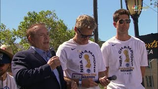 Steve Kerr & Bob Myers Interview - 2018 Golden State Warriors Championship Parade