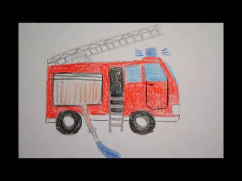 feuerwehr auto zeichnen f r kinder how to draw a fire truck. Black Bedroom Furniture Sets. Home Design Ideas