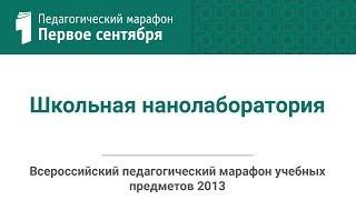 Игорь Царьков. Школьная нанолаборатория(студия ИД