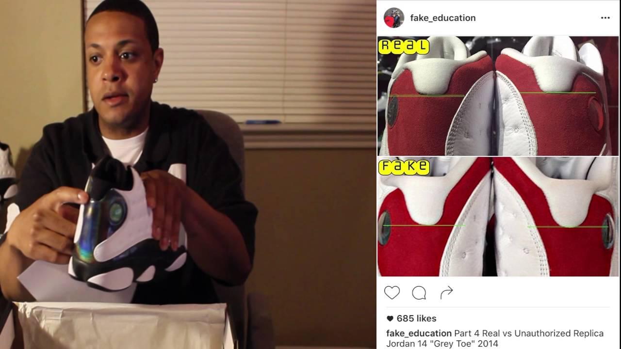 "Real Or Fake Retro S: Air Jordan 13 Retro 'Wolf Grey"" Hologram Shoes REAL OR"