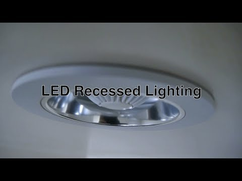 LED Recessed Lighting w/ Can Ceiling Lights Fixtures For Bathroom or Shower Light & Other Spaces