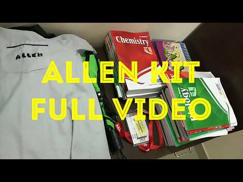 Allen carrier institute kota student kit given by institute