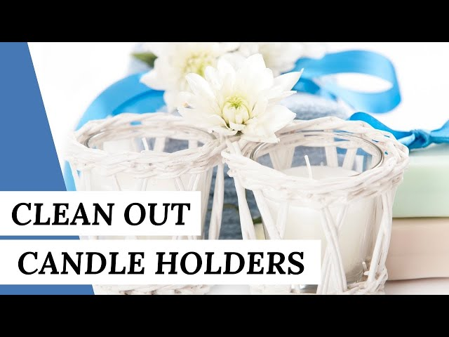 How To Clean Out Candleholders | Cleaning Hack #short
