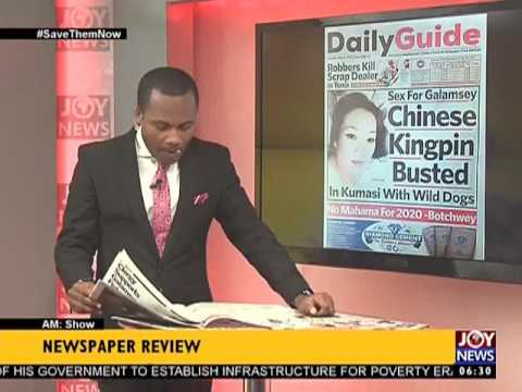 AM Show Newspaper Headlines on Joy News (9-5-17)