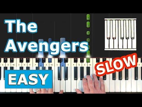 The Avengers Theme - SLOW EASY Piano Tutorial - Sheet Music (Synthesia) thumbnail