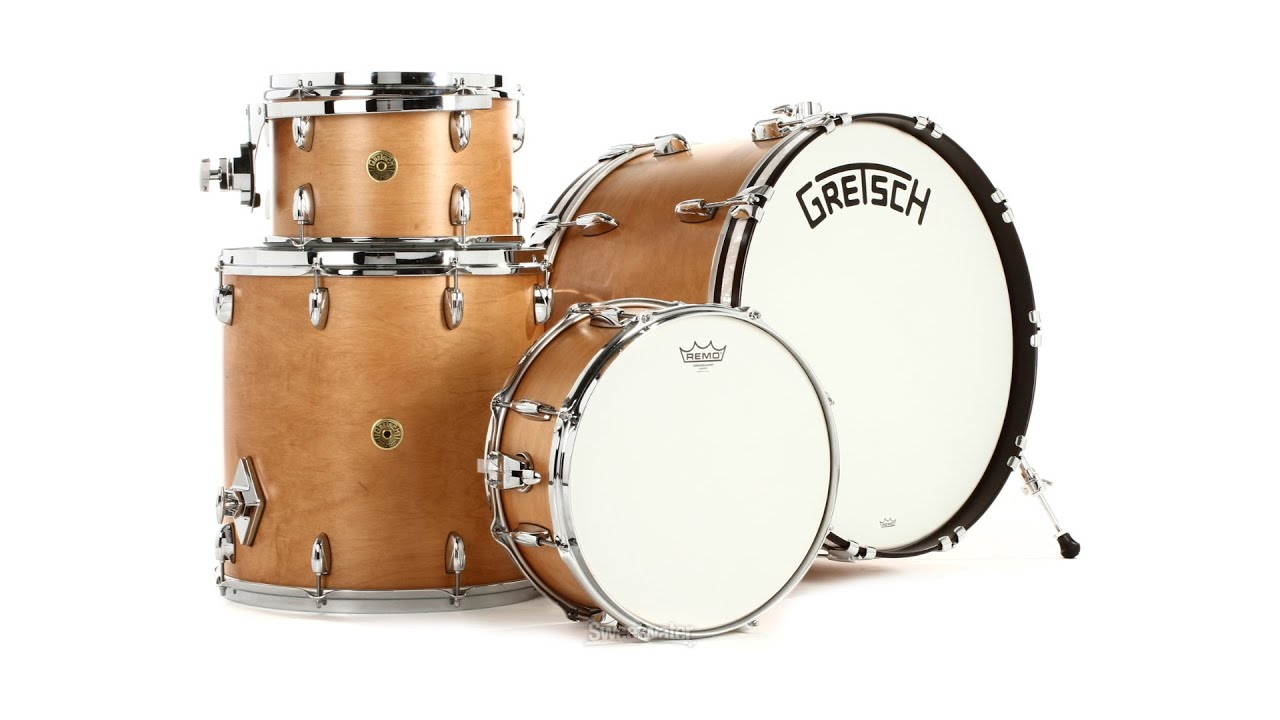 Gretsch Drums Broadkaster 4 piece Drum Set Review by Sw      Doovi