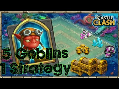 Labyrinth All Goblins || Castle Clash By Trouble Maker