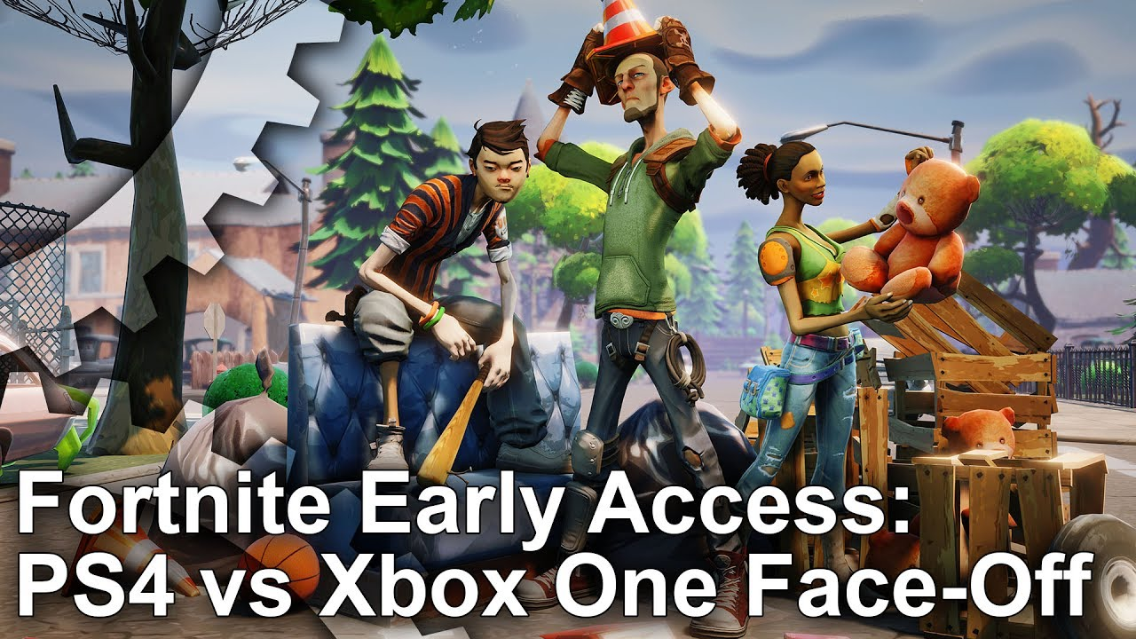 fortnite early access ps4 pro vs xbox one graphics comparison frame rate test - fortnite frame rate xbox