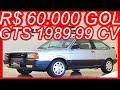 #PASTORE R$ 60.000 #VW #Gol GTS 1989 Prata Cristal aro 14 MT5 FWD 1.8S Álcool 99 cv 15 kgfm 173 kmh