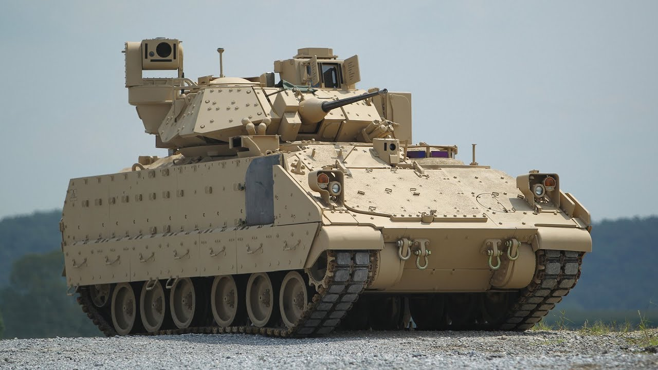 US Army Bradley Fighting Vehicle in Action