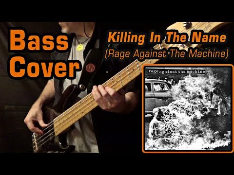 Rage Against The Machine - Killing In The Name (Bass Cover with On-Screen Lyrics)