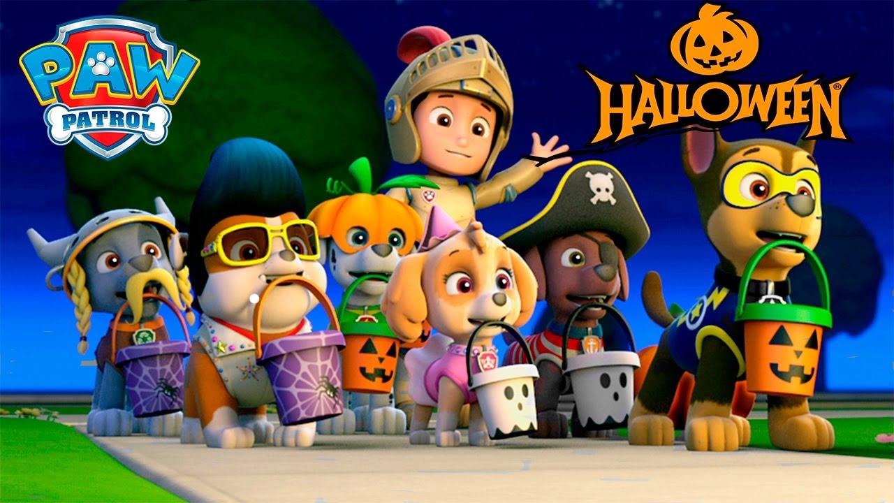 PAW Patrol Halloween Pumpkin Coloring Pages. Fun Coloring ...