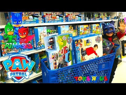 Troy Goes Shopping At Toys Store | PJ MASKS And PAW PATROL Toys Compilation Video For Kids