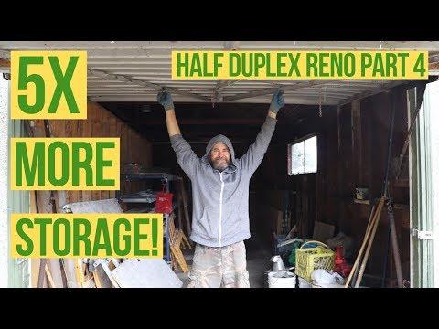 DIY Garage Storage Shelves Upgrade - Half Duplex Reno Pt. 4