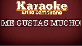 Me Gustas Mucho - Karaoke - Estilo Campirano