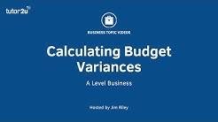 Calculating Budget Variances