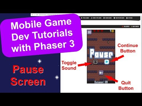 'Endless Cave' Ep. 17: Pause Screen | Phaser 3 Game Dev Tutorial thumbnail